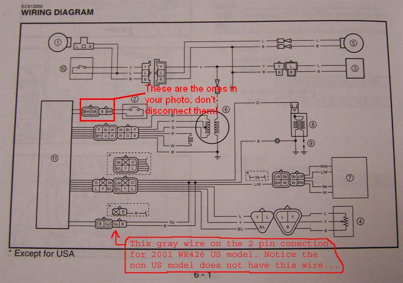 What are these wires? - WR400F/426F/450F - ThumperTalk | Wr426 Wiring Diagram |  | ThumperTalk