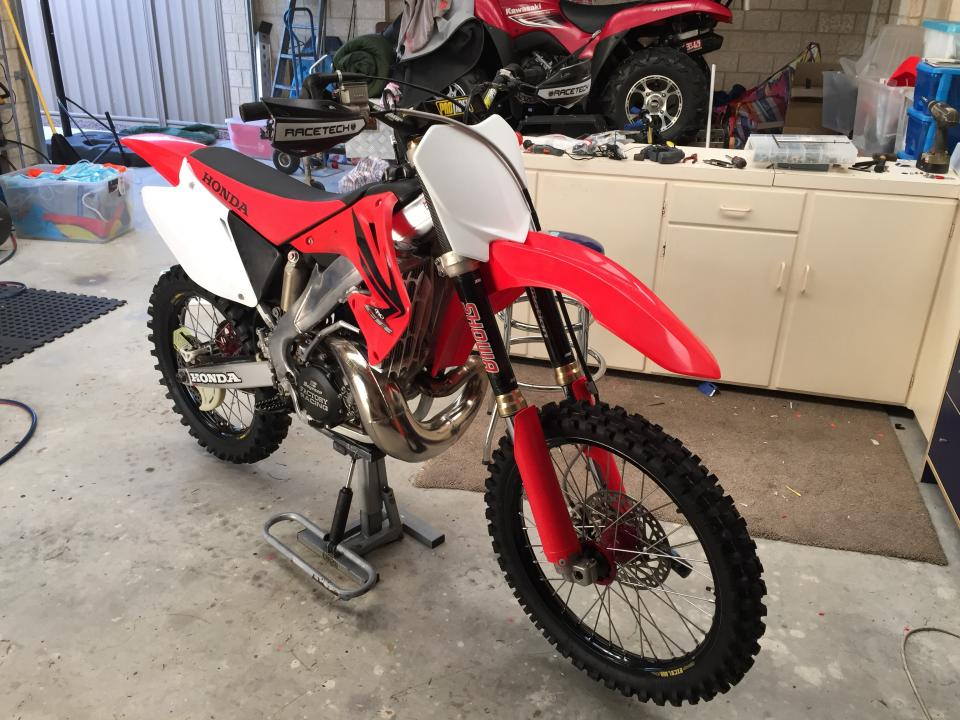Crf Front Fender And Stadium Plate Conversion To Cr250