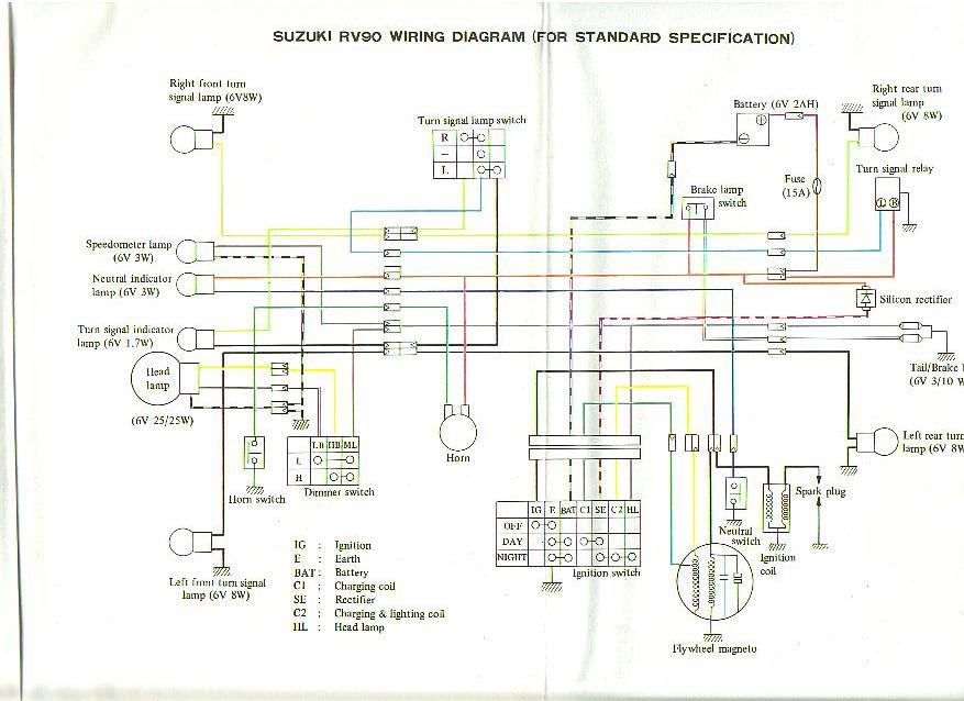 Suzuki Rv90 Wiring Diagram 1972 Parts €� Free