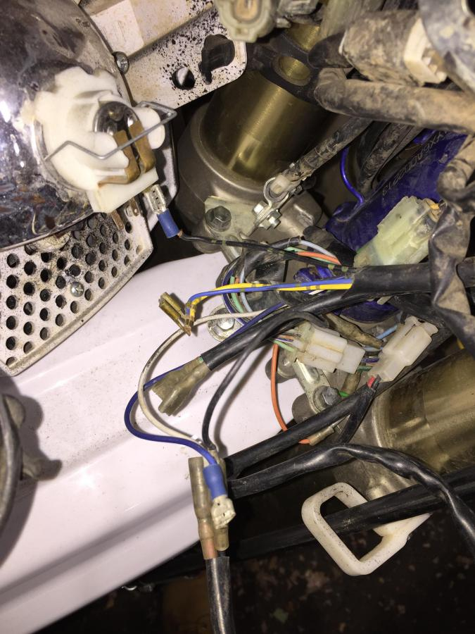 Wr250f headlight wiring questions - WR250F/YZ250F/YZ250FX ... on