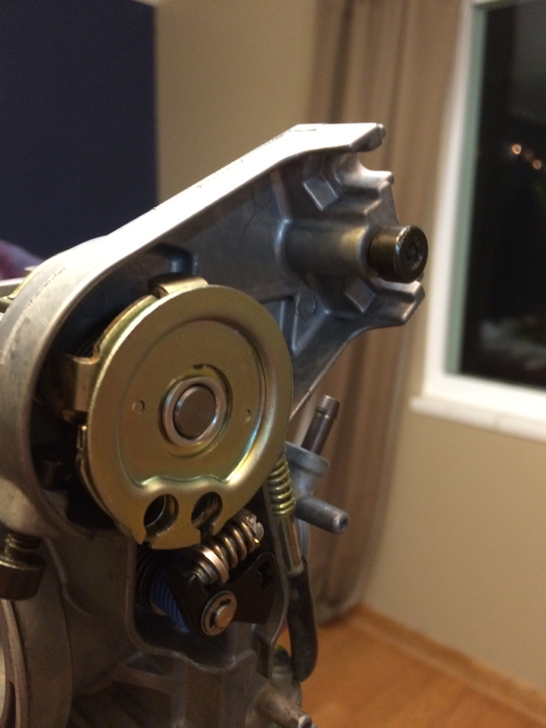 Throttle sticking open after carb cleaning - Motorcycle