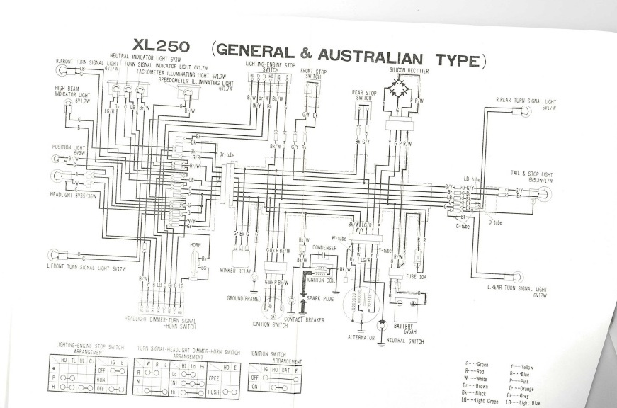 xl250 wiring diagram wiring diagramhonda xl250r wiring wiring diagram1976 xl250 no regulator? vintage dirt bikes thumpertalkhonda xl250r wiring 6