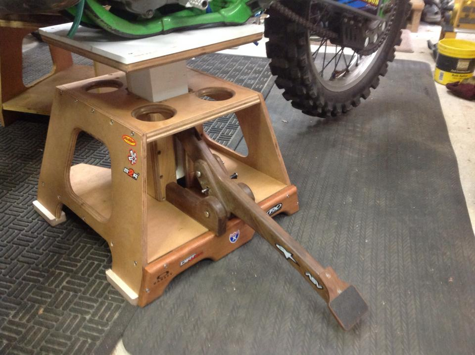 Homemade dirt bike stand general dirt bike discussion for What is dirt made out of