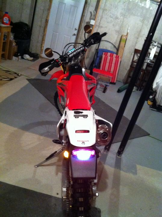 HELP Pressure switch when using stock 250x tail light CRF250X