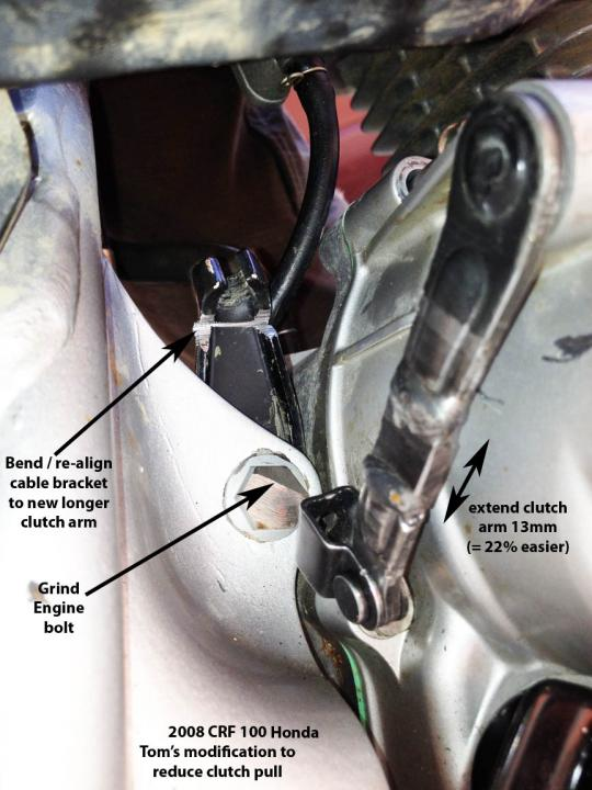 Reduce CRF100 Clutch Pull Spring Force Is Too Much