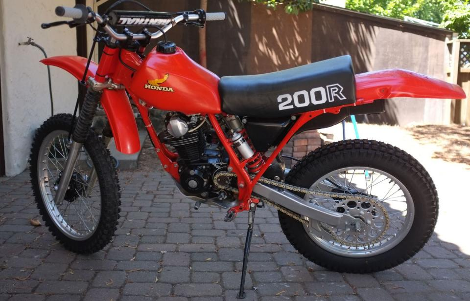 Honda Crf 80 >> Lightly Modded 1982 XR200R (pics) - XR/CRF 80-200 ...