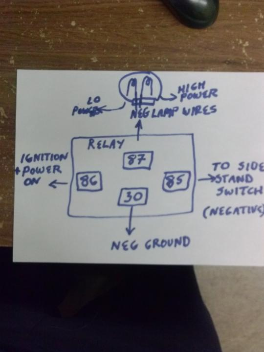 dr650 headlight on off switch relay dr thumpertalkhave independent wiring btw, i will supply power to post 86 from ignition on positive if i\u0027ve thoroughly confused everyone, here\u0027s my diagram plan