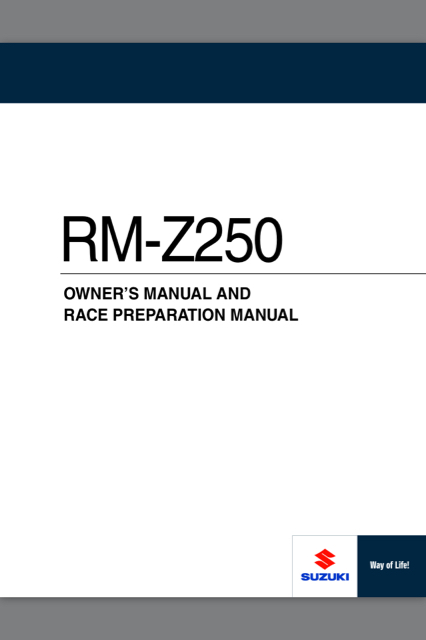 2012 rmz250 service manual rmz 250 thumpertalk rh thumpertalk com suzuki rmz 250 service manual suzuki rmz 250 service manual 2014