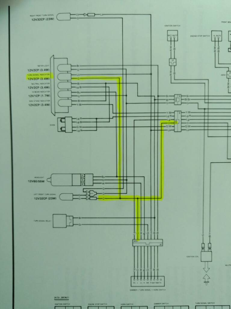 Installing Led Turn Signals Help With Diodes Xr250r Xr400r Signal Flasher Wiring Diagram