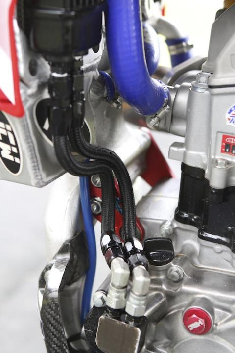 Twin Air Engine Oil Cooler : Crf oil cooler r thumpertalk