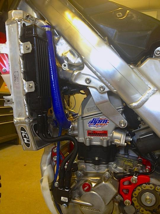 Twin Air Engine Oil Cooler : Crf oil cooler r rx thumpertalk