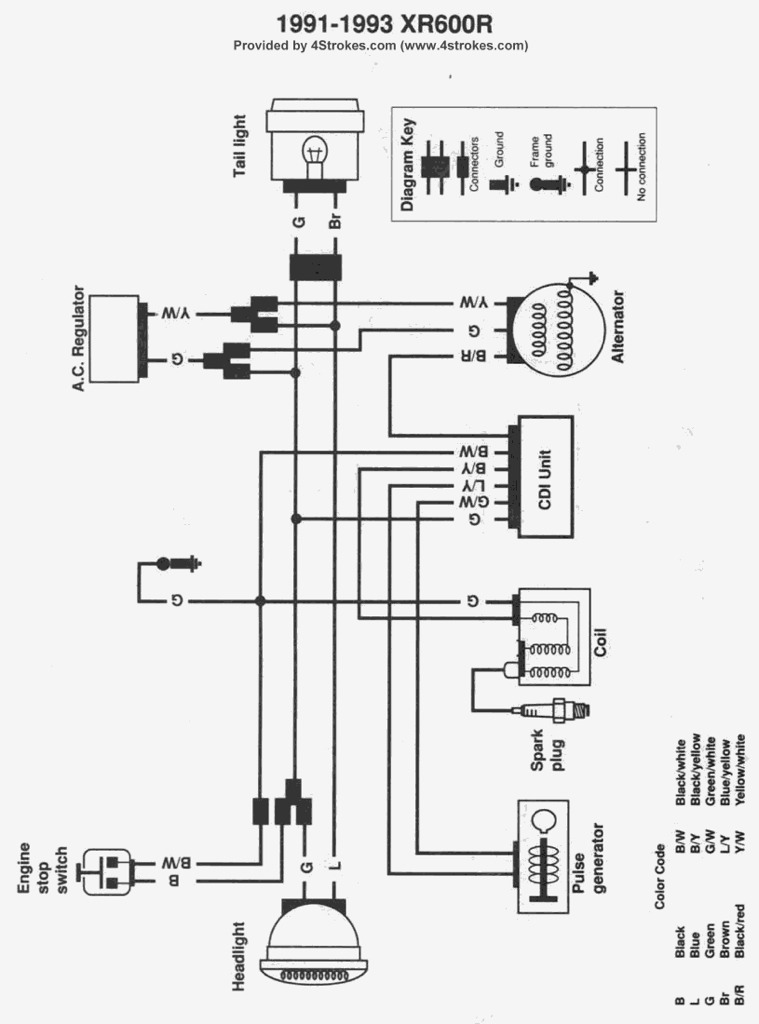 1995 xr600r wiring diagram