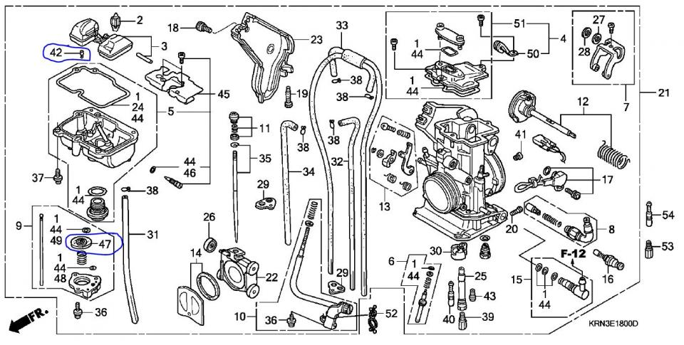2000 honda 400ex carburetor diagram  honda  auto parts catalog and diagram