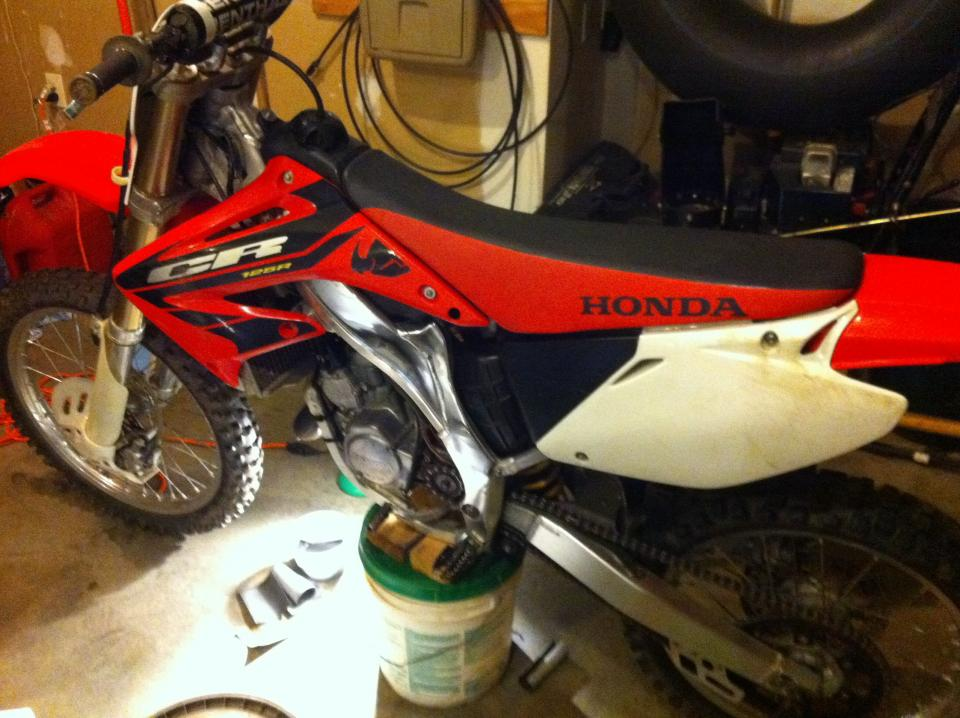 Before and after honda frame polish - Dirt Bike Pictures & Video ...