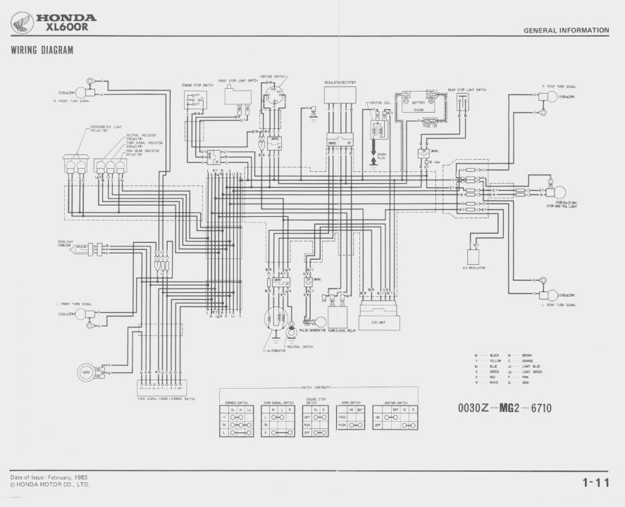 xl600r wiring diagram product wiring diagrams u2022 rh genesisventures us