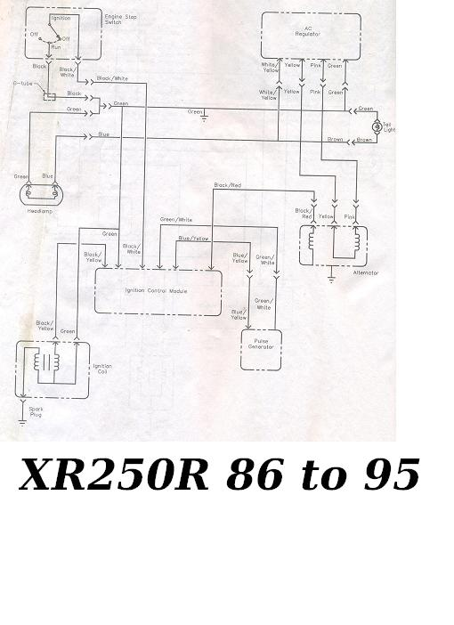 early xr ac dc conversion xr250r xr400r thumpertalk rh thumpertalk com honda xr250r wiring diagram 1982 honda xr250r wiring diagram