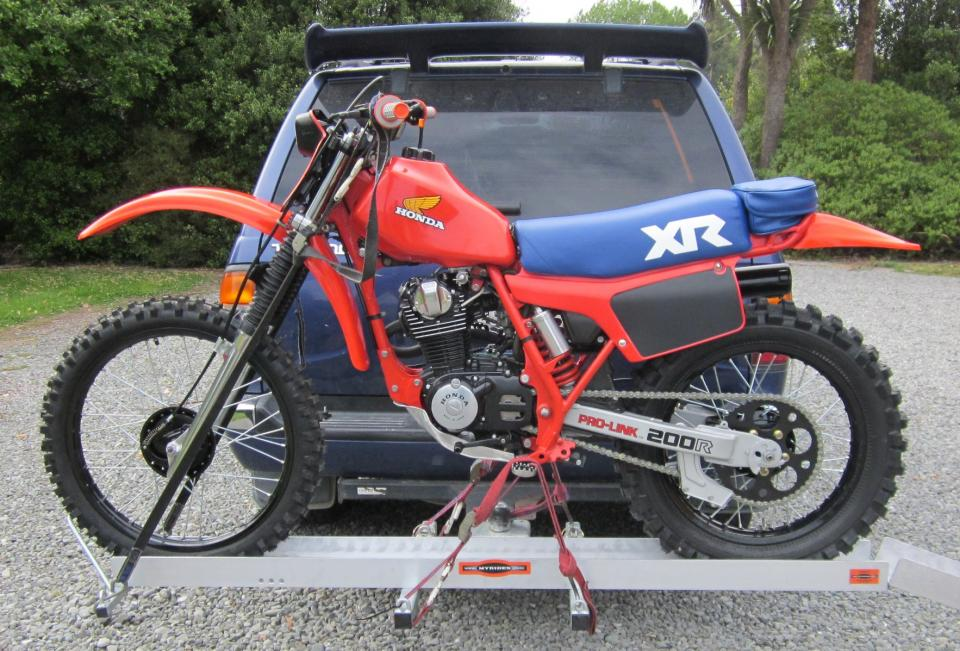 1983 Honda XR200R wiring diagram with turn signals XR