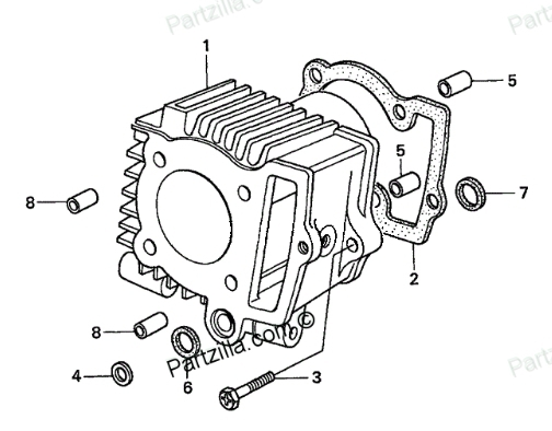 Small Engine Cylinder Head Diagram