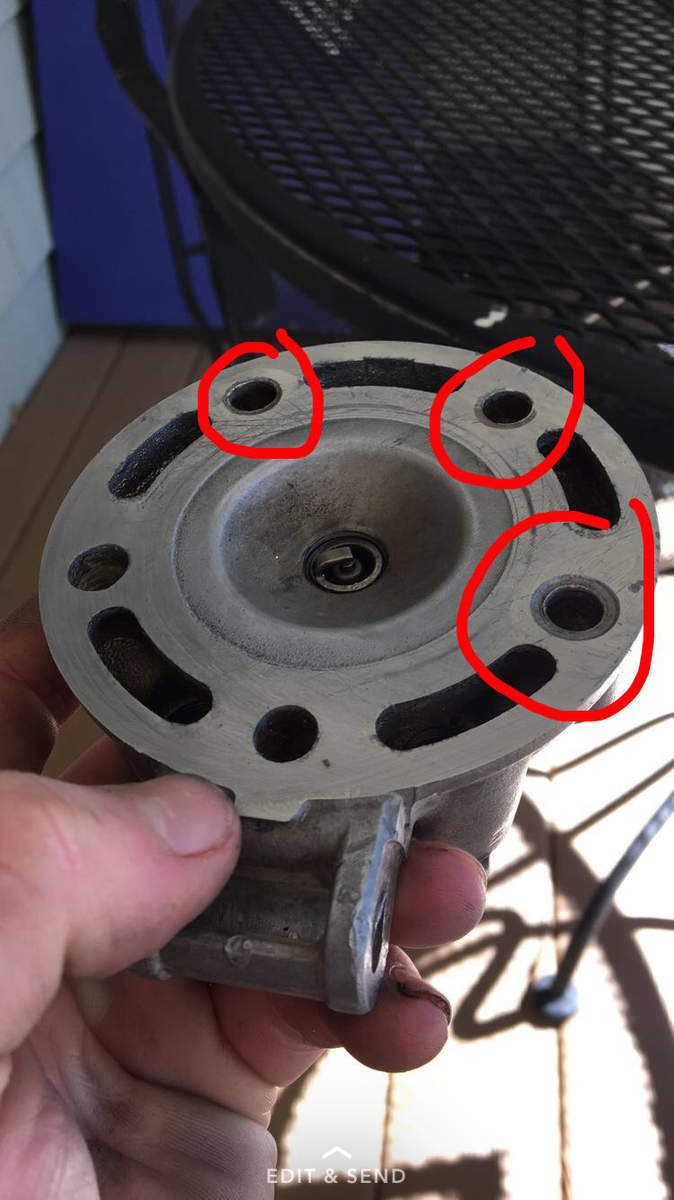 1997 cr125 leaking coolant out of head after new head gasket - Honda