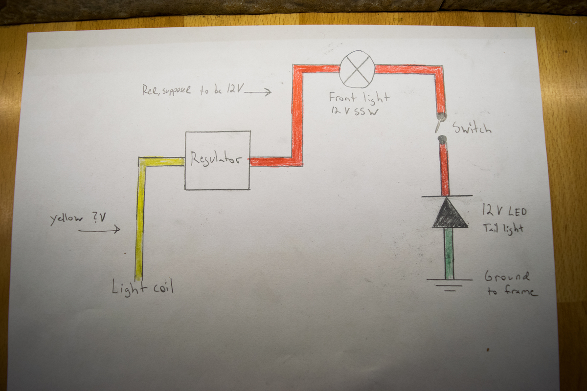 Wiring A Headlight And Tail Light For Lifan 125cc Pit Bike 12 Volt Diagram Lights Share This Post