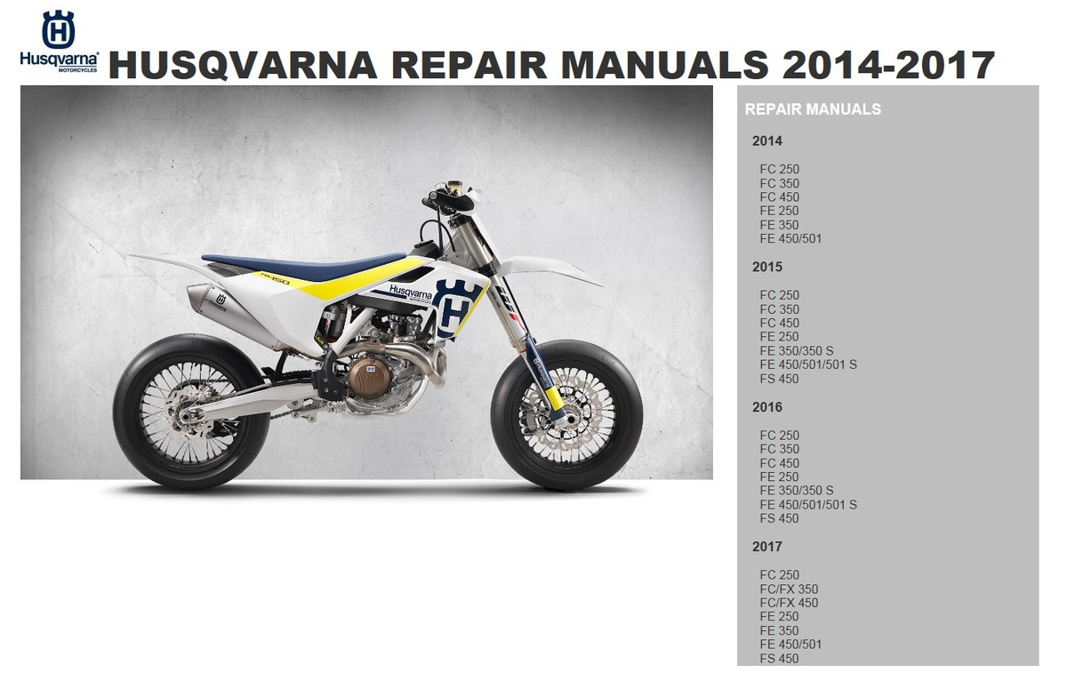 ... Array - 2016 fe 501 s repair manual husqvarna 4 stroke thumpertalk rh  thumpertalk com