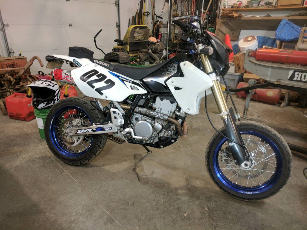 Drz400 sm on the flat track? - DRZ400/E/S/SM - ThumperTalk