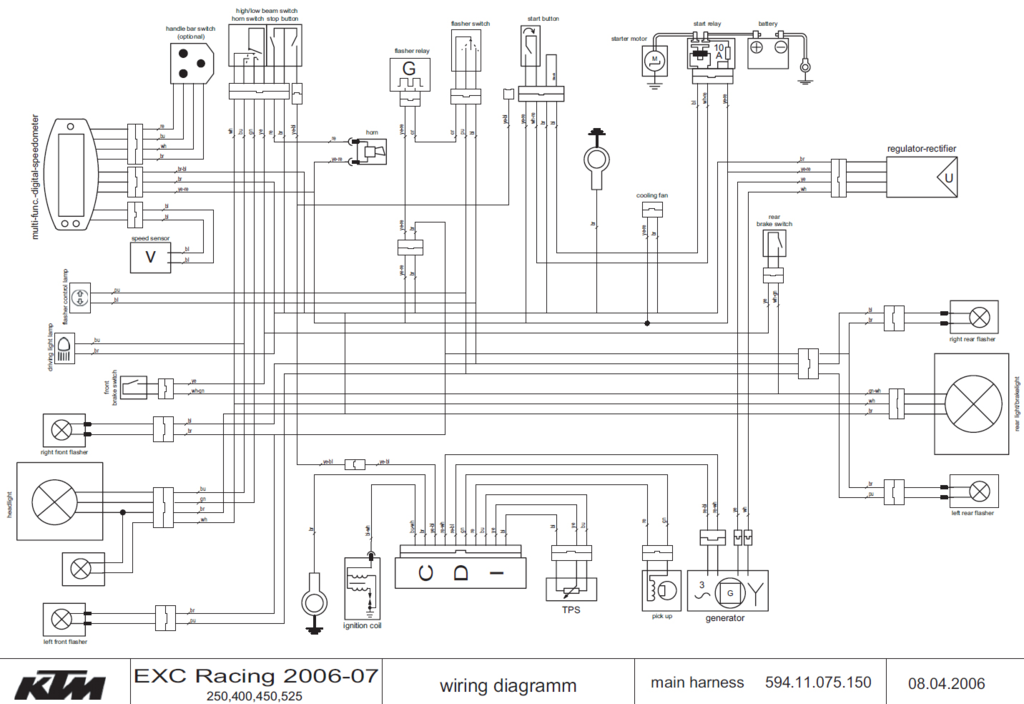 2005 Ktm 250 Exc Wiring Diagram
