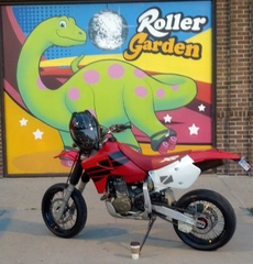 XR650R at my roller rink