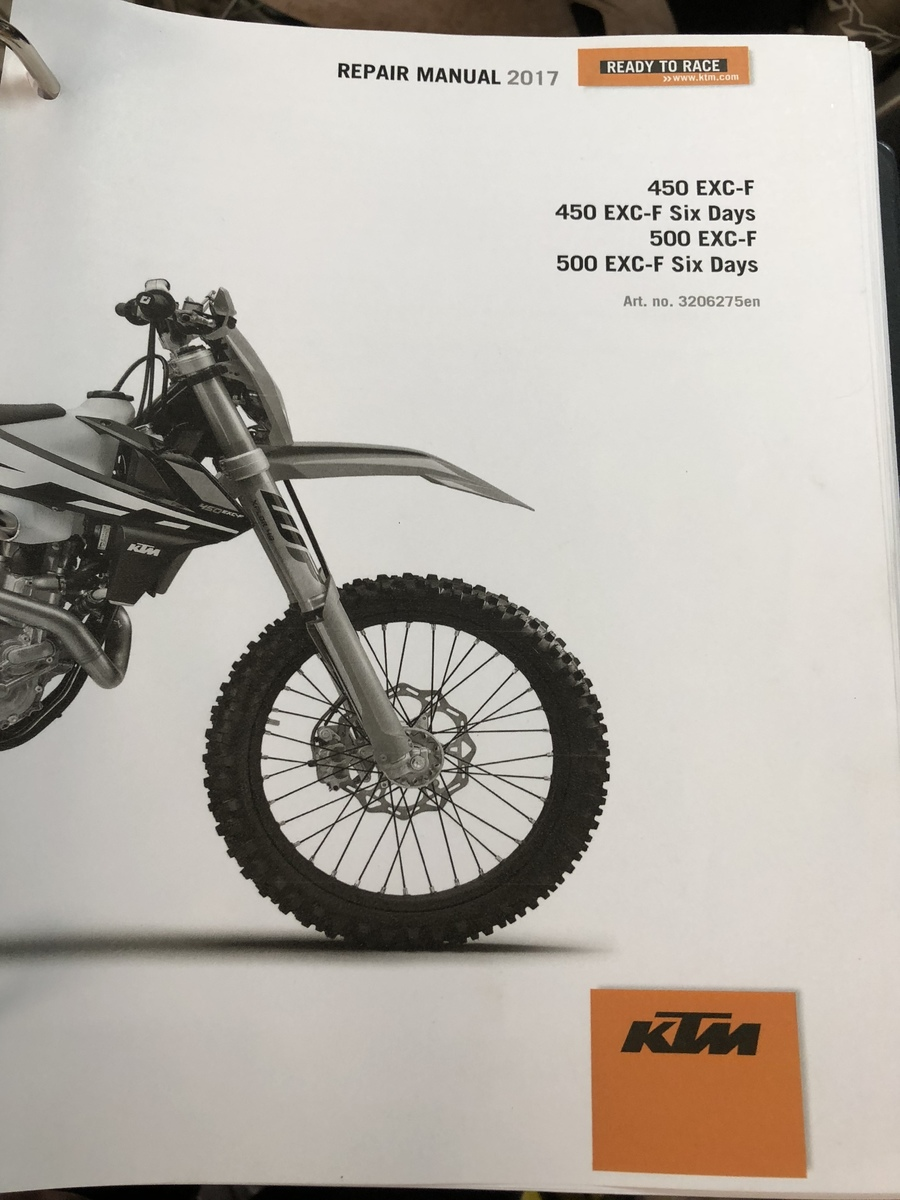 ktm 450 exc workshop manual free