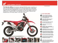 2019 Honda CRF450L Features Sheet