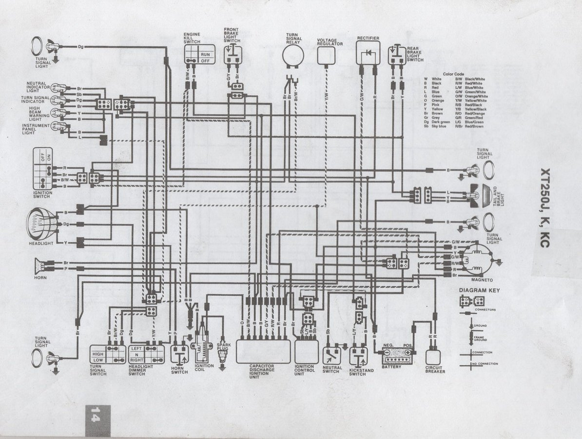 Xt Wiring Diagram on