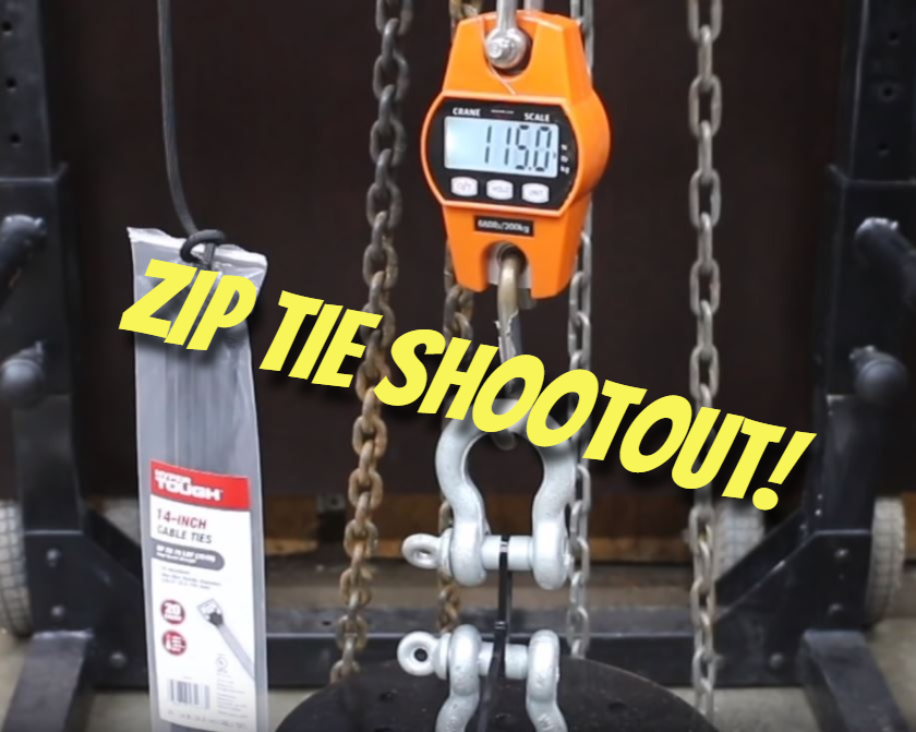 Zip Tie Shootout: What's the best brand?