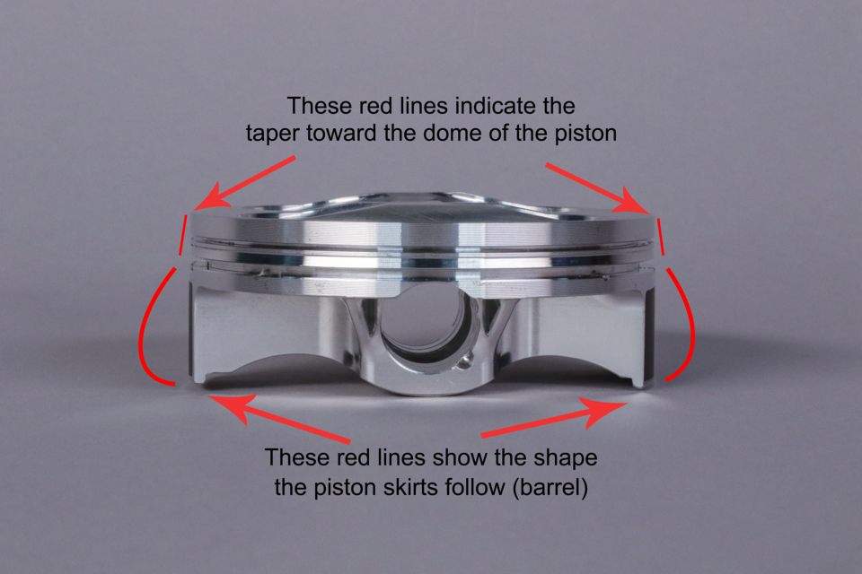Pistons Aren't Round: Profile and Ovality Explained