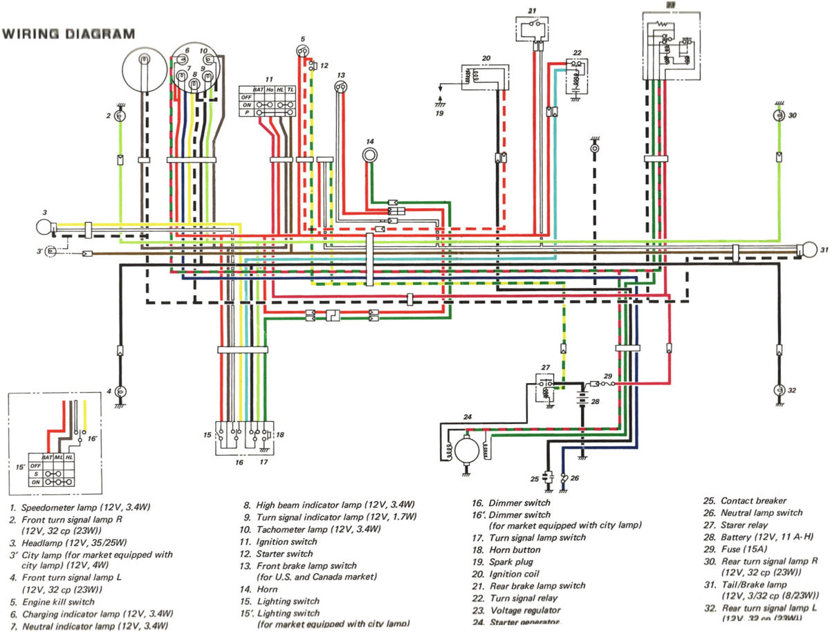 1974 TC185 Wiring Diagram - Vintage Dirt Bikes - ThumperTalk on