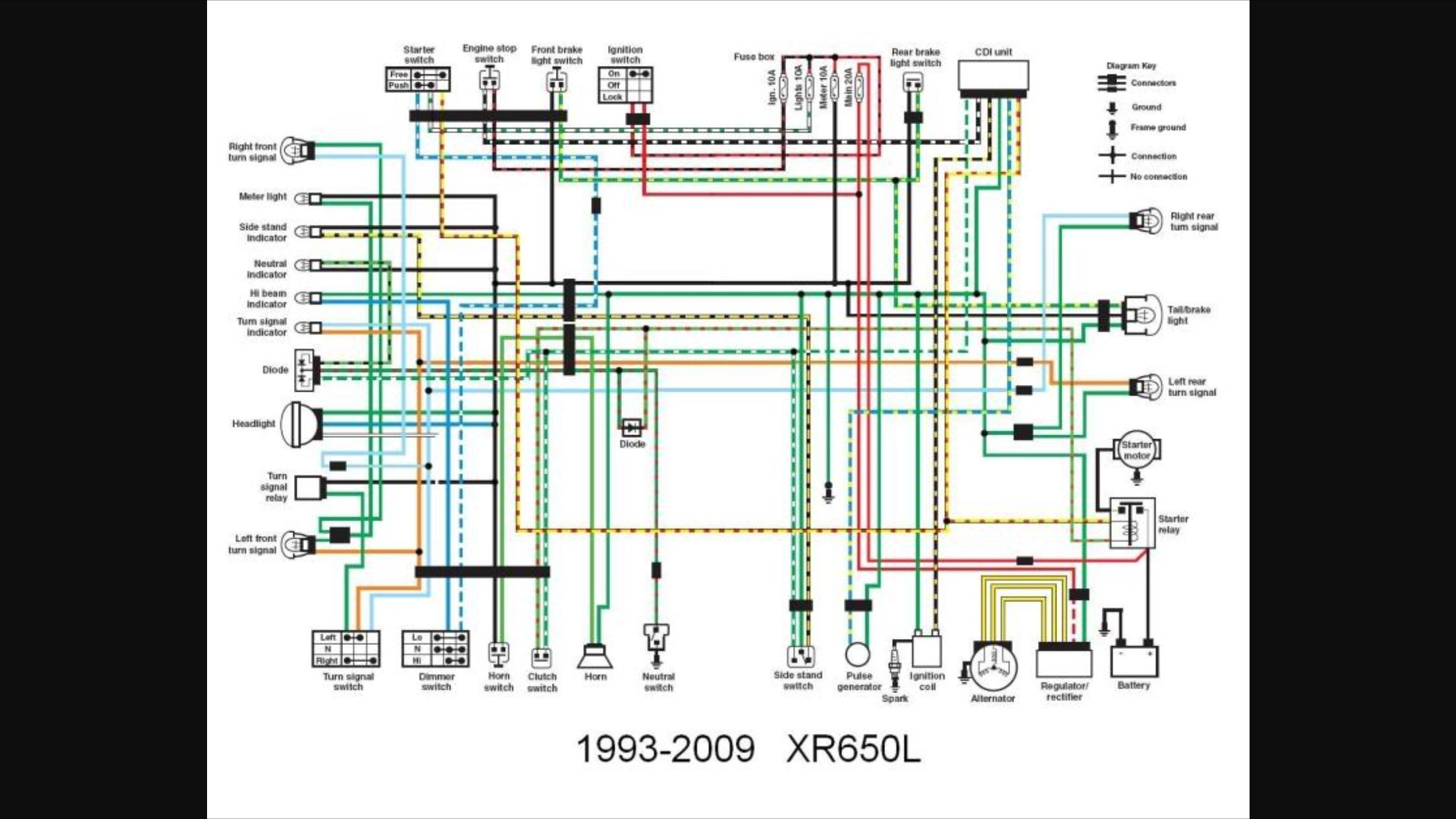 Redrawn Xr650l Wiring Diagram  L