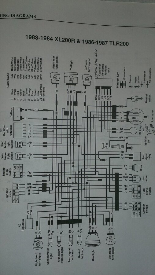 84 xr200r wiring diagram 81  83 xr200r rotor to dc voltage for a battery  horn  brake light  81  83 xr200r rotor to dc voltage for a