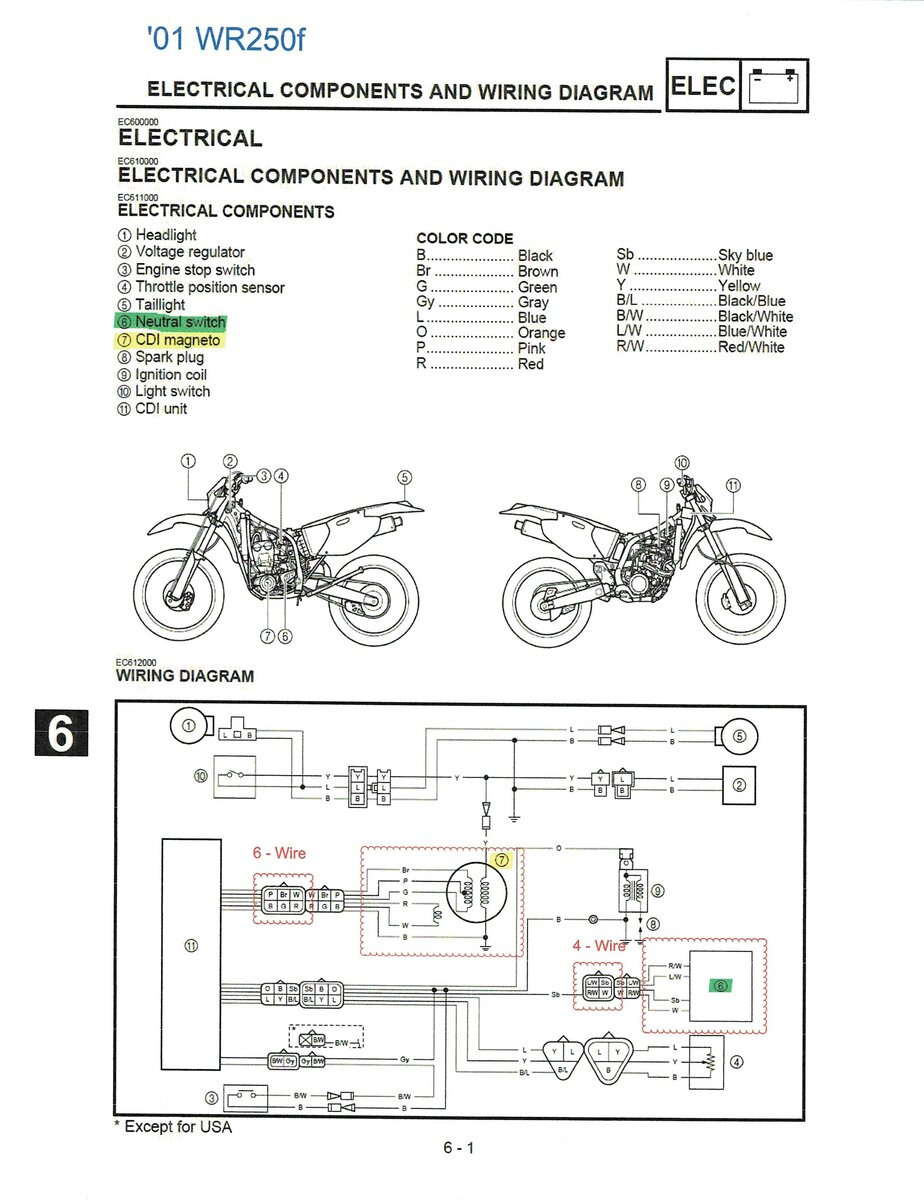 2001 WR250F to YZ250F 2003 Stator/Flywheel swap and keep original CDI? -  WR250F/YZ250F/YZ250FX - ThumperTalk | Wr250f Wiring Diagram |  | ThumperTalk