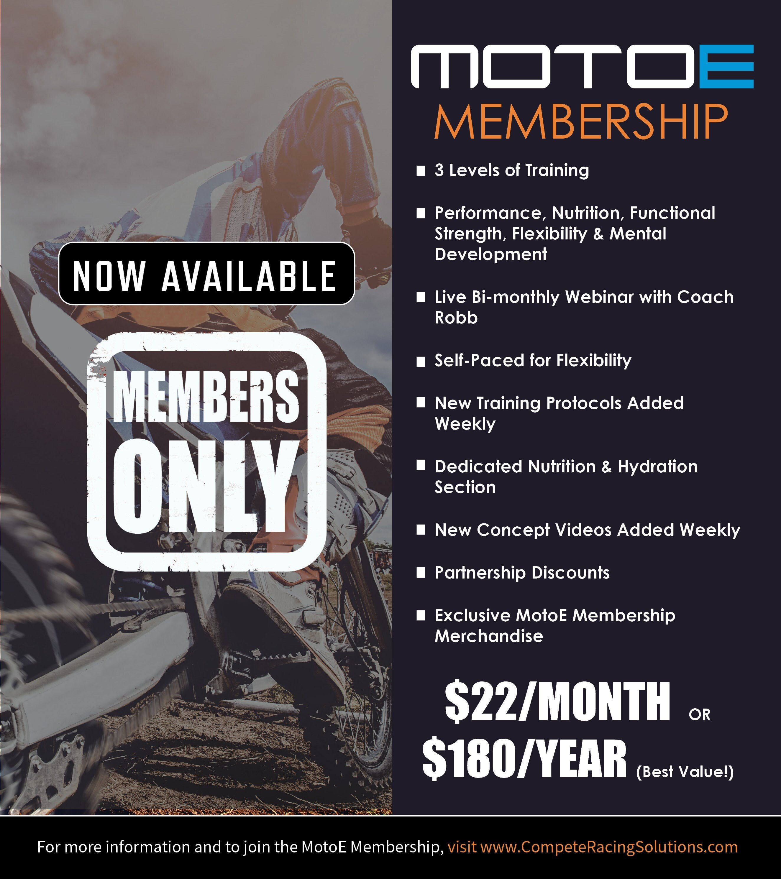 MotoE Membership - Now Available!!